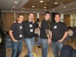 """Parte del equipo de SOLUSOFT con sus camisetas """"especiales"""""""